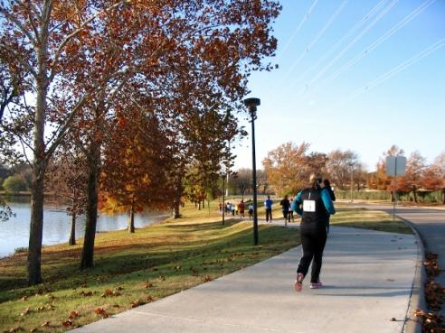 Running Around Towne Lake Park