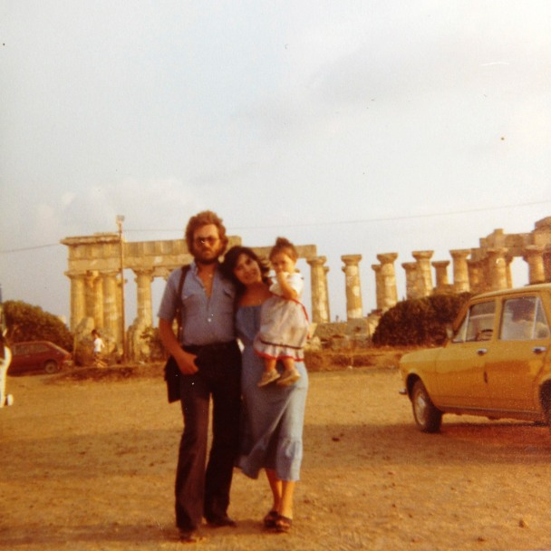 Me and my parents on vacation in Sicily. 1979.