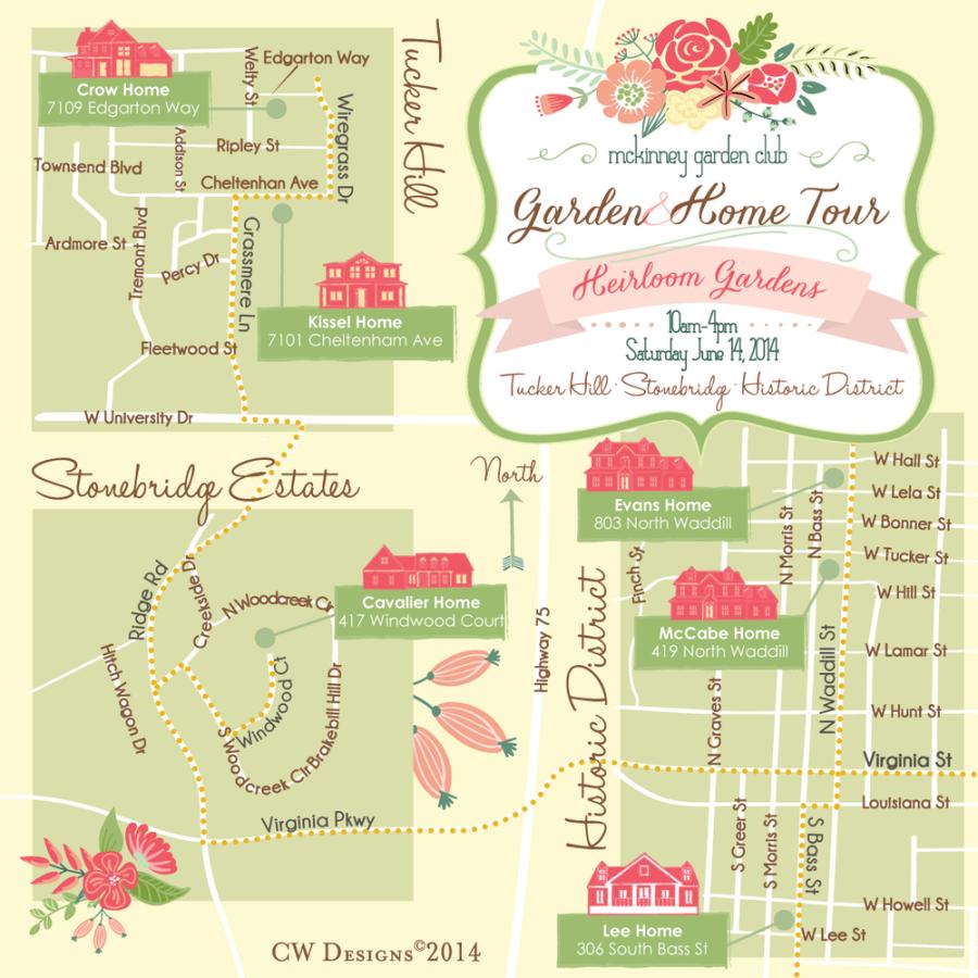 McKinney H&G Tour 2014_Map Front